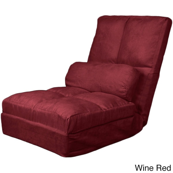 Red Futon Mattress Cosmo Click Clack Convertible Futon Pillow-top Flip Chair ...
