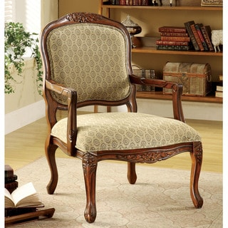 Roll Arm Chair Taupe Leaf 12105185 Overstock Com