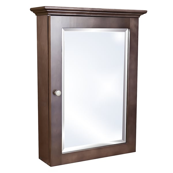 Small Cherry Stained Wall Mounted Medicine Cabinet
