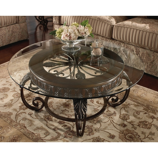 Signature Design By Ashley Brookfield Brown Round End: Signature Design By Ashley Tullio Round Brown Cherry