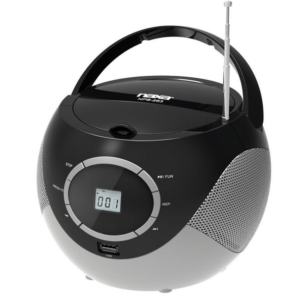 Naxa Npb 263 Portable Mini Mp3 Cd Boombox With Am Fm Radio
