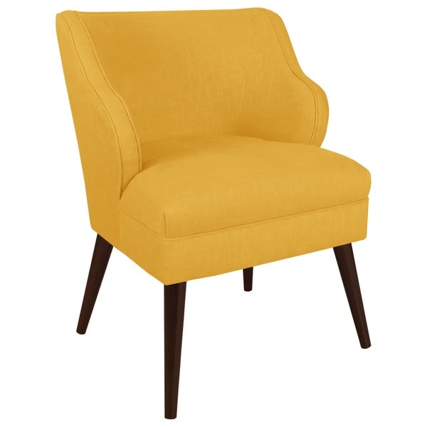 Made To Order Modern Chair In Twill Bright Yellow