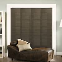 """Chicology Adjustable Sliding Panel, Frontier - Natural Woven, Privacy, 80""""W X 96""""H - French Oolong"""