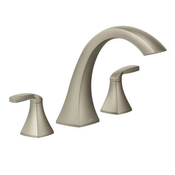 Moen Voss Brushed Nickel Two Handle High Arc Roman Tub