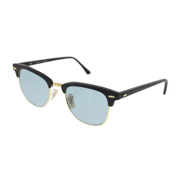 Ray Ban Clubmaster Polarized Sunglasses 51mm Matte Black