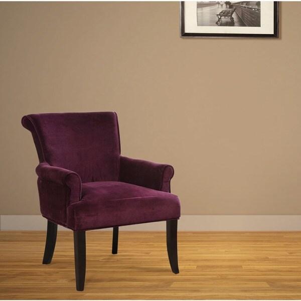 Linon Calla Dark Purple Fabric Accent Chair