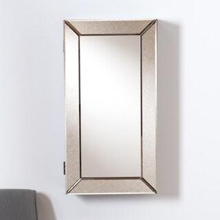 Upton Home Wall Mount White Jewelry Mirror 10353267