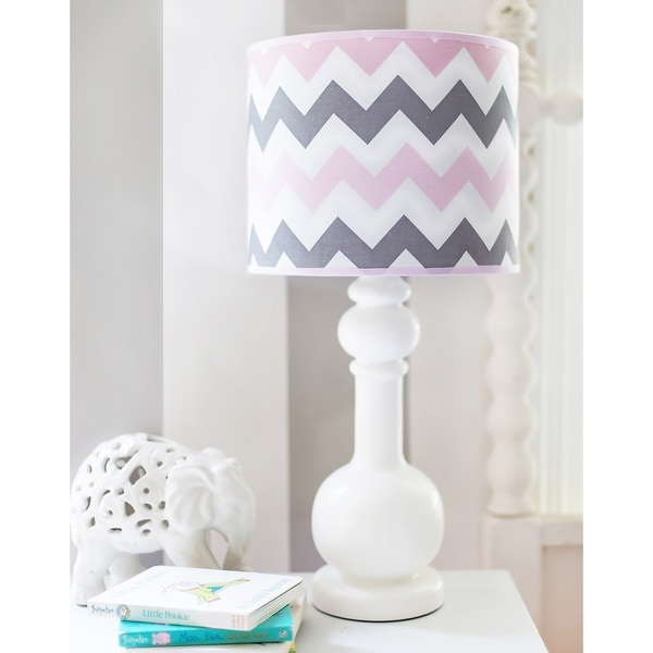My Baby Sam Pink Chevron Lamp 16402382 Overstock Com
