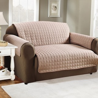 Sure Fit Stretch Leather 2 Piece Sofa Slip Cover