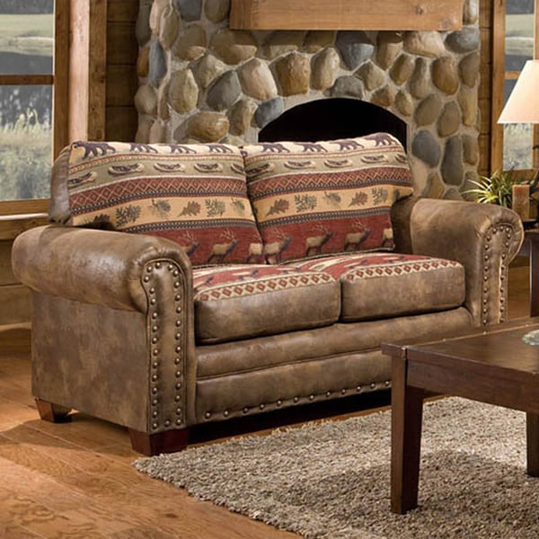 Sierra Mountain Lodge Printed Tapestry Loveseat 16404401