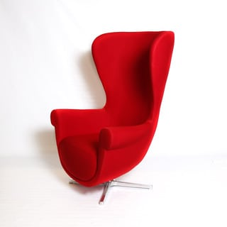 Red Wool Egg Chair 13652466 Overstock Com Shopping