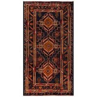 Herat Oriental Afghan Hand-knotted 1960s Semi-antique Tribal Balouchi Wool Rug - 3'5 x 6'3