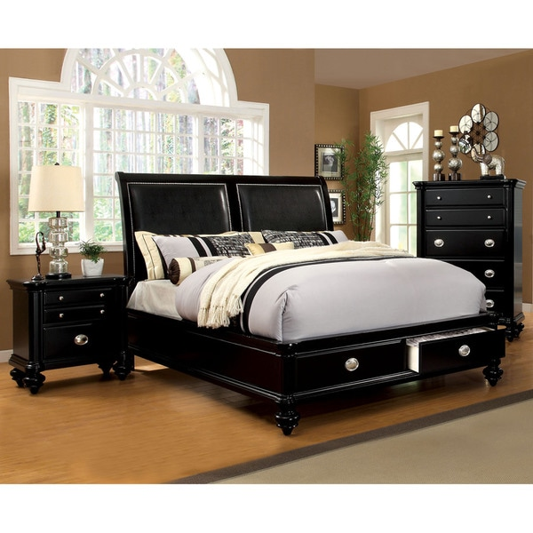 Modern Discount Bedroom Furniture: Furniture Of America Modern 2-Piece Platform Bed With