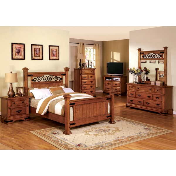Furniture Of America 4-piece Country Style American Oak