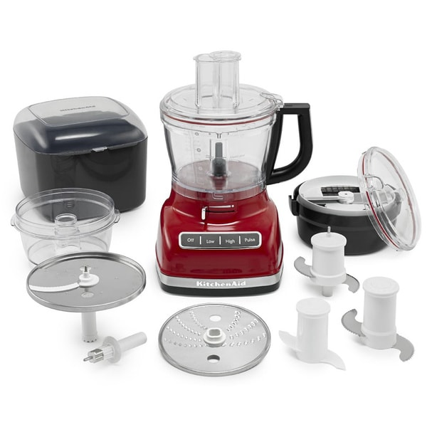 Kitchenaid Kfp1466er Empire Red 14 Cup Food Processor With