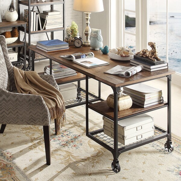 Best Rustic Home Office Design Ideas Remodel Pictures: 60 Inch Desk Rustic Wood Modern Industrial Computer Office