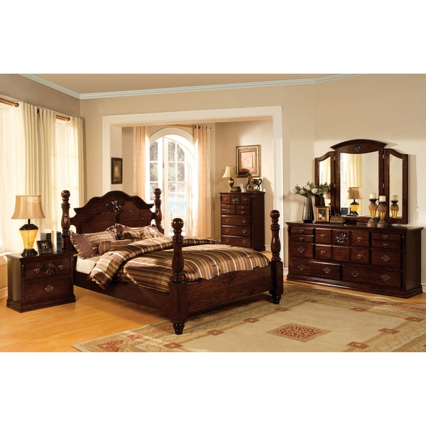 Furniture Of America Weston Traditional 4 Piece Glossy