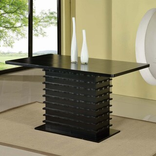 Tribecca Home Weston Black Square Pedestal Dining Table