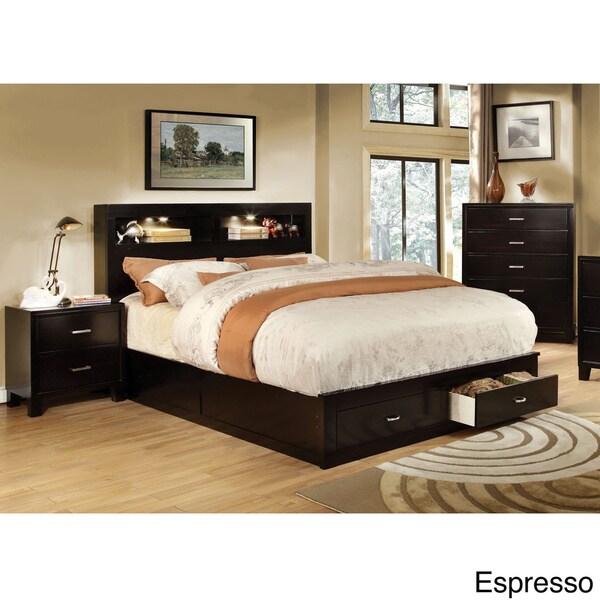 Furniture Of America Clement 2 Piece Storage Platform Bed