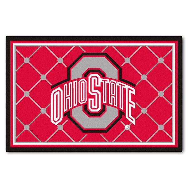 Fanmats Ohio State University Area Rug 5 X 8 16428345