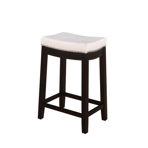 Counter Stools Overstock: Oh! Home Manhattanesque Backless Counter Stool, White
