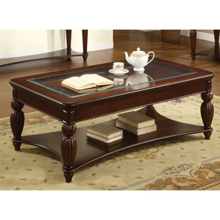 Sale Furniture Of America Morgan Beveled Glass Coffee Table