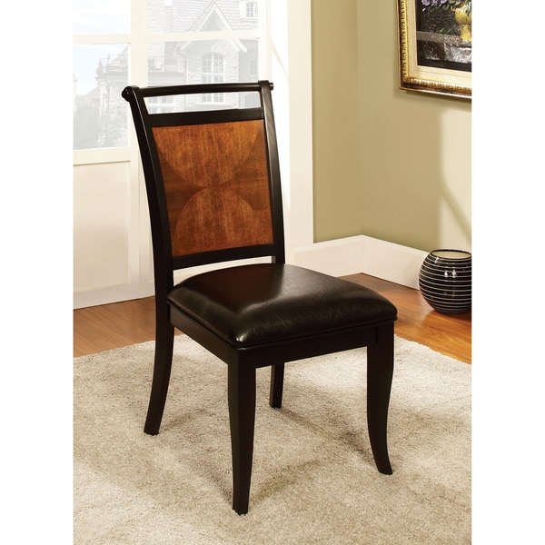 Furniture Of America Saldi Acacia And Black Finish Side