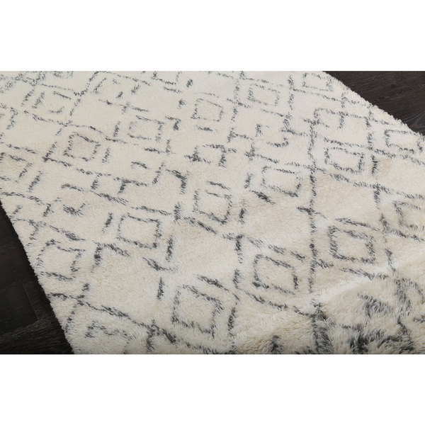 ABC Accents Beni Ourain Moroccan Beige Wool Area Rug (8' X