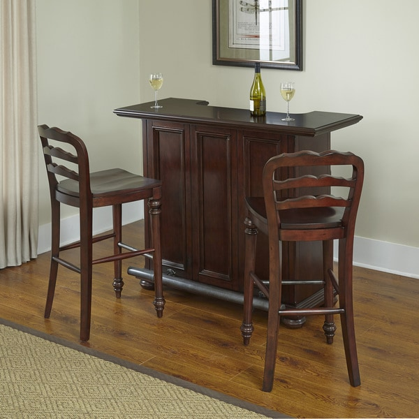 Overstock Bar: Colonial Classic Bar And Two Stools