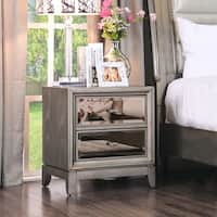 Silver Orchid Grant Gold-tinted Nightstand