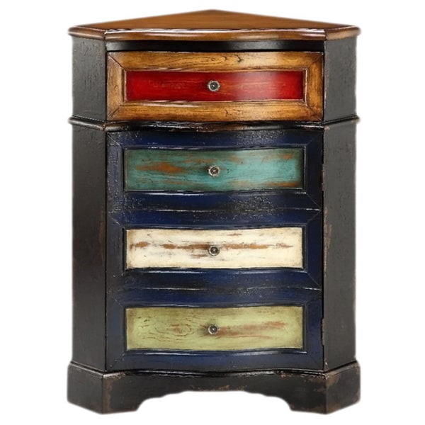 Multicolored One Drawer Corner Chest 16434650