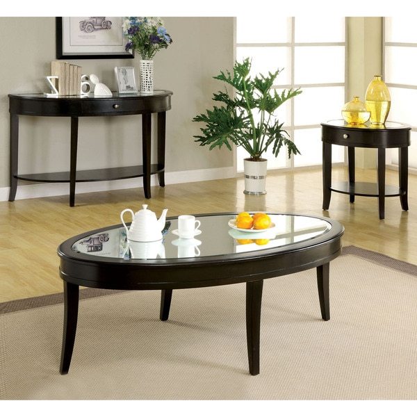 Furniture Of America Slovaria 3-Piece Glass Top Accent