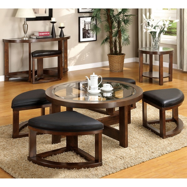 Coffee Table And Chair: Coffee Table Ottoman Combo Set Wedge Chair Space Saver