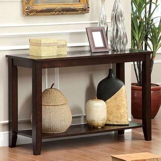 Furniture Of America Artesia Glass Top Sofa Table
