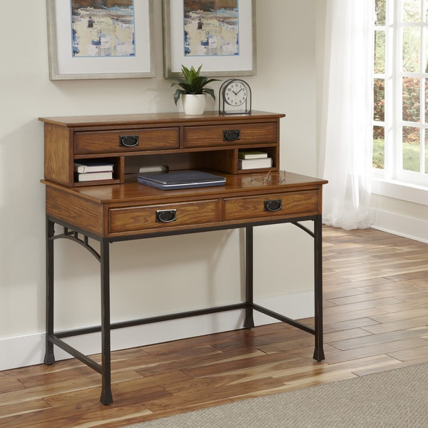 Contemporary Craftsman Living Room: Modern Craftsman Student Desk And Hutch