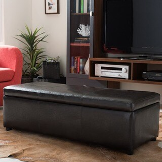 Terrance Dark Brown Large Storage Ottoman 12334308