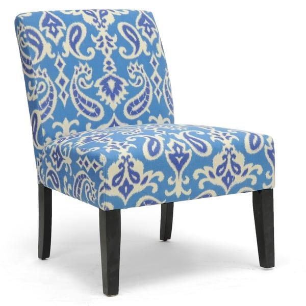 Baxton Studio Phaedra Paisley Ikat Modern Slipper Chair