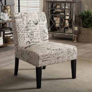 Cortesi Home Chicco Script Armless Accent Chair 16125965
