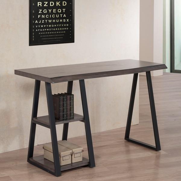 Live Edge Writing Desk 16439241 Overstock Com Shopping