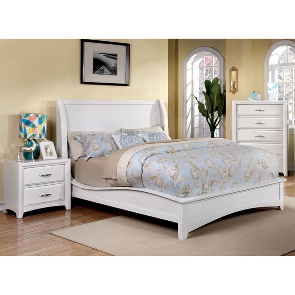 Modern Discount Bedroom Furniture: Furniture Of America Loraine Modern 3-Piece Wingback