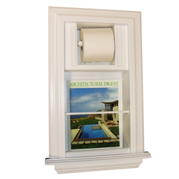 Key West Series 2 Recessed Magazine Rack With Toilet Paper