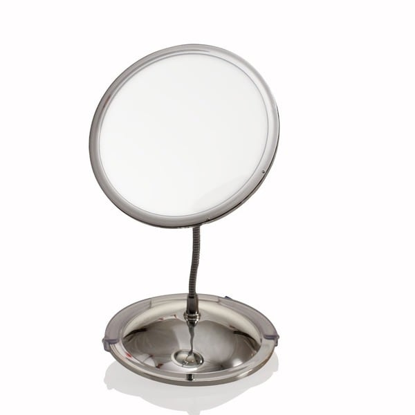Ovente Vanity Gooseneck Dual Magnification Chrome Mirror