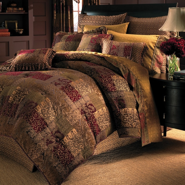 Croscill Galleria Red Damask 4 Piece Comforter Set