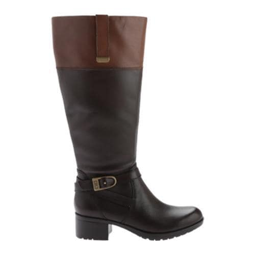 3f653f0041d7 Womens Bandolino Baya Wide Calf Riding Boot Dark Brown Cognac Leather