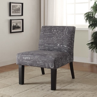 Delano Grey Weave Accent Chair Overstock Shopping