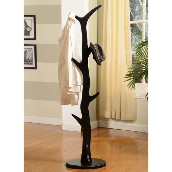 Black Wood Coat Rack 16467068 Overstock Com Shopping