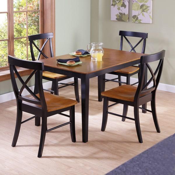 Ashland Black Counter Height 5 Piece Dining Set: 30-inch Black/ Cherry Counter Height 5-piece Dining Set