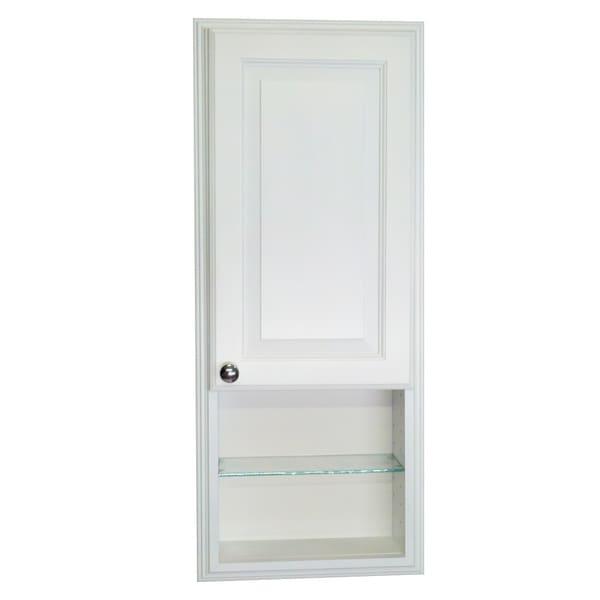 36 Inch Recessed White Plantation Medicine Storage Cabinet With 12 Inch
