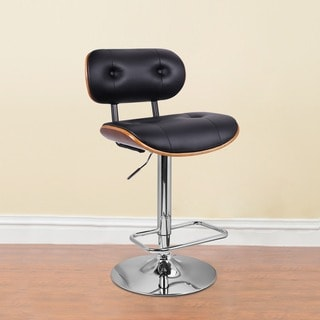 Abbeville Raven Black Leather Barstools Set Of 2