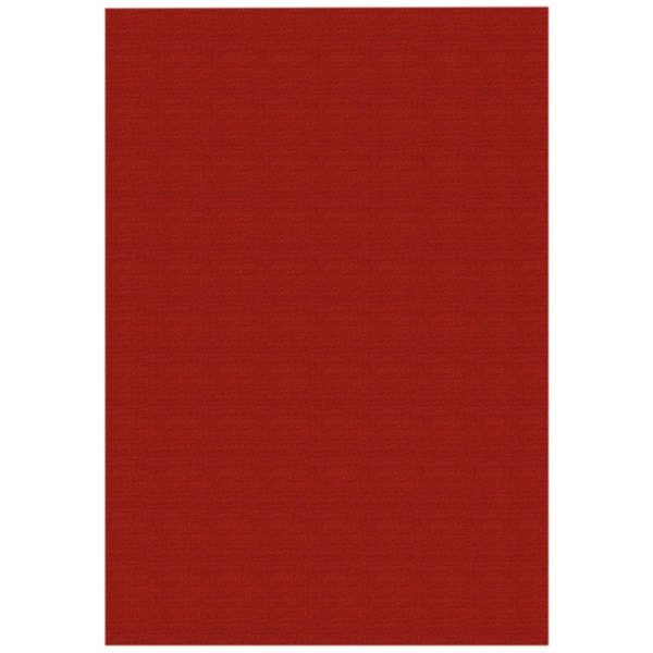 Solid Red Rubber Back Non Slip Area Rug 5 X 6 6